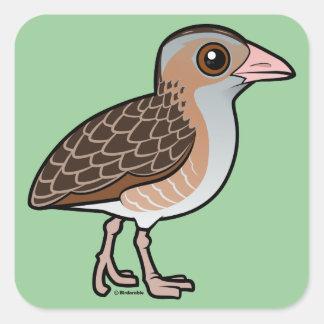 Maíz Crake de Birdorable Pegatina Cuadrada