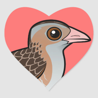 Maíz Crake de Birdorable Pegatina En Forma De Corazón