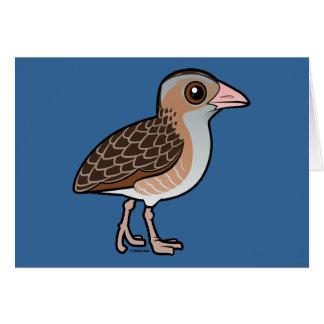Maíz Crake de Birdorable Tarjeta De Felicitación