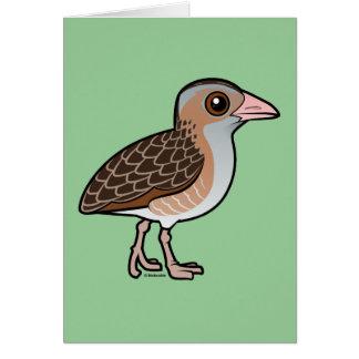 Maíz Crake de Birdorable Tarjeta Pequeña