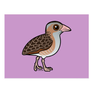 Maíz Crake de Birdorable Tarjeta Postal