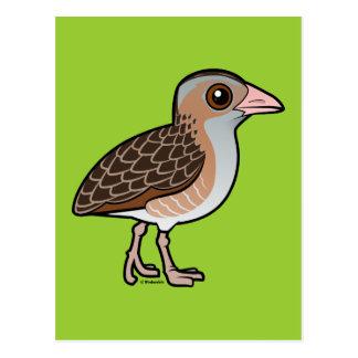 Maíz Crake de Birdorable Tarjetas Postales