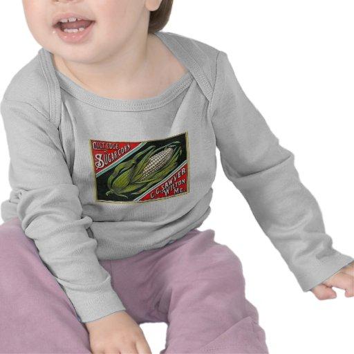 Maíz de azúcar del borde de cerda joven - etiqueta camiseta