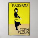 Maíz de Kassama - poster de la publicidad del vint