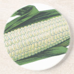 Maíz en la mazorca del blanco de las verduras de posavasos manualidades