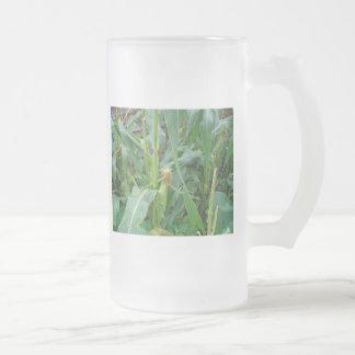 Maíz en la mazorca tazas de café