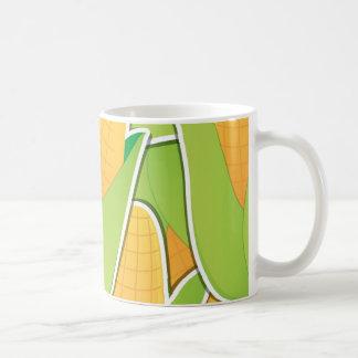 Maíz enrrollado taza de café