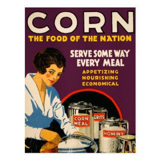 Maíz la comida de la nación postales