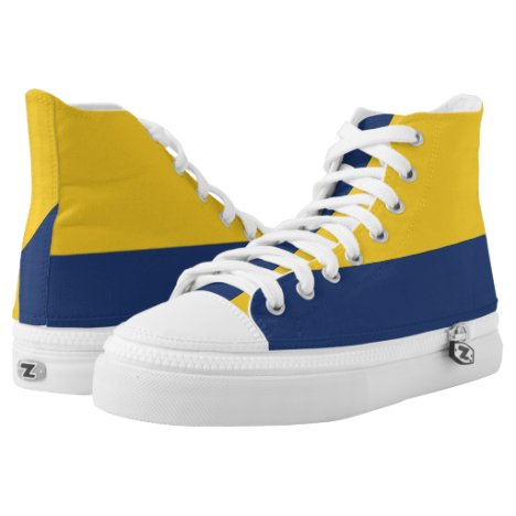 Maize and Midnight Two-Tone Hi-Top