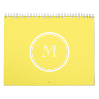 Maize High End Colored Personalized Calendar