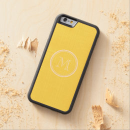 Maize High End Colored Personalized Carved Maple iPhone 6 Bumper Case