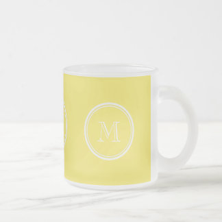 Maize High End Colored Personalized Frosted Glass Coffee Mug