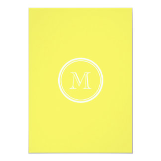 Maize High End Colored Personalized 5x7 Paper Invitation Card