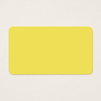 Maize High End Solid Colored Business Card