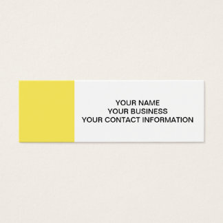 Maize High End Solid Colored Mini Business Card