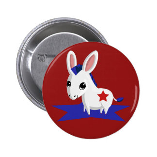 Maize the Democratic Donkey Pinback Button