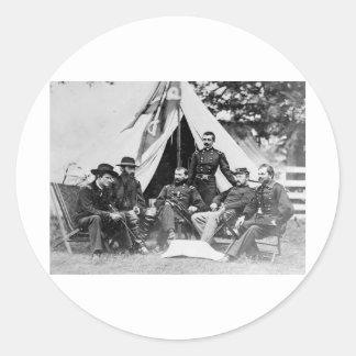 Maj. Gen. Philip Sheridan and his generals 1864 Classic Round Sticker
