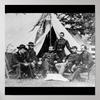 Maj. Gen. Philip Sheridan and his generals 1864 Poster