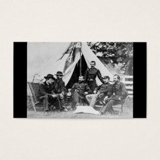 Maj. Gen. Philip Sheridan and his generals c. 1864 Business Card