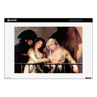 """Majas on a Balcony by Francisco de Goya Decal For 13"""" Laptop"""