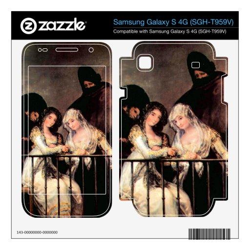 Majas on a Balcony by Francisco de Goya Samsung Galaxy S 4G Skins
