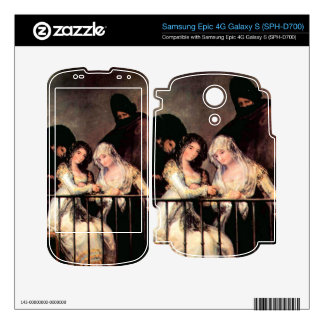 Majas on a Balcony by Francisco de Goya Decal For Samsung Epic
