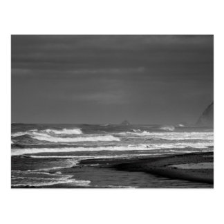 Majestad de la costa de Oregon en monocromo Postales
