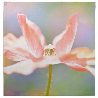 Majestad de la naturaleza, estampado de flores ros servilletas imprimidas