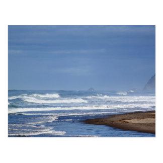 Majestad del Océano Pacífico en la postal de la co