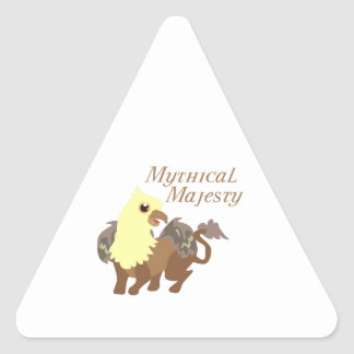 Majestad mítica colcomanias triangulo personalizadas