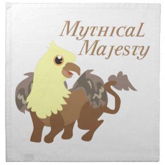 Majestad mítica servilleta de papel