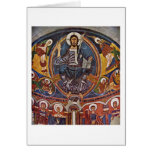 Majestas Domini Details By Masters Of Tahull Greeting Card