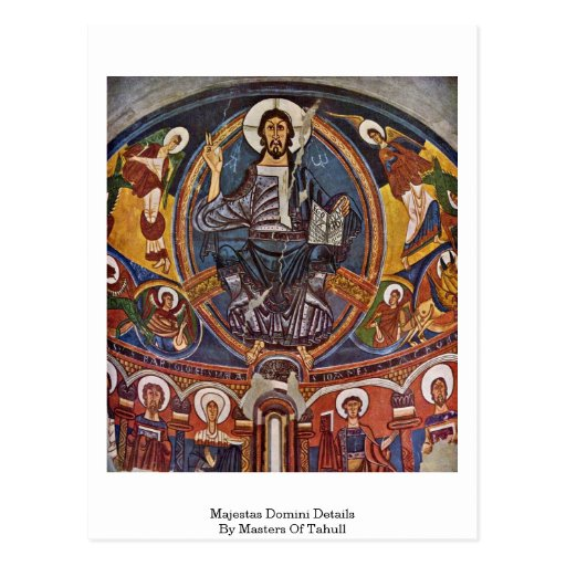 Majestas Domini Details By Masters Of Tahull Postcard
