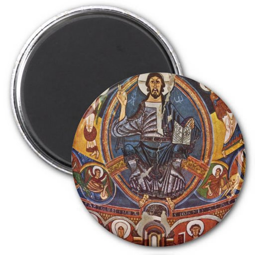 Majestas Domini From The Apse Of San Clemente Deta Magnets