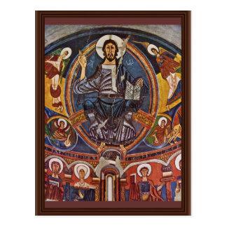 Majestas Domini From The Apse Of San Clemente Deta Postcard