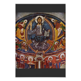 Majestas Domini From The Apse Of San Clemente Deta Poster