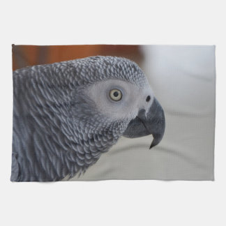 Majestic African Grey Parrot Kitchen Towel