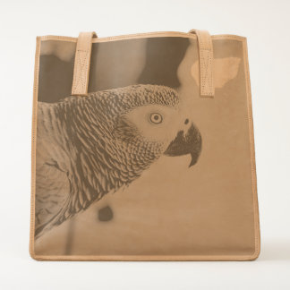 Majestic African Grey Parrot Tote