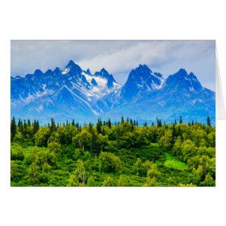 Majestic Alaska Mountains Card