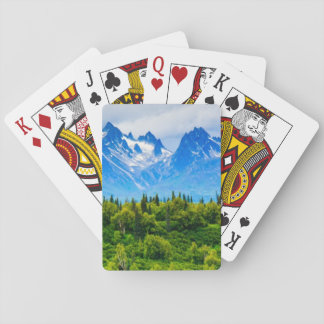 Majestic Alaska Mountains Poker Cards