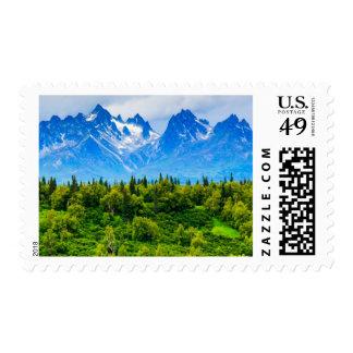 Majestic Alaska Mountains Postage