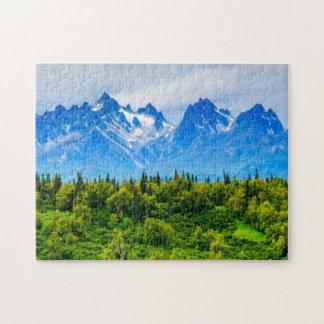 Majestic Alaska Mountains Jigsaw Puzzle