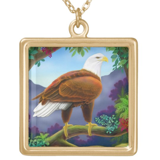 Majestic American Bald Eagle Necklace