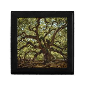 Majestic Angel Oak Keepsake Box