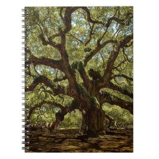 Majestic Angel Oak Spiral Notebook