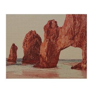 Majestic Arch, Baja California, Mexico Wood Print