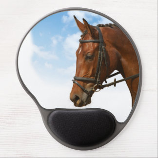 Majestic Bay Riding horse Image Gel Mouse Pad