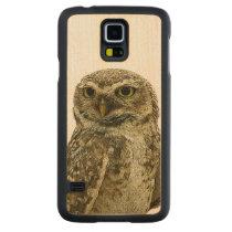 Majestic Big Eyed Owl Wood Smartphone Case