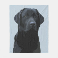 Majestic Black Labrador Fleece Blanket