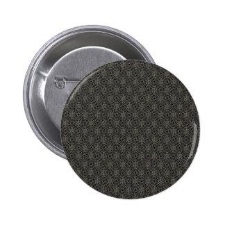 Majestic black pattern on grey background pinback buttons